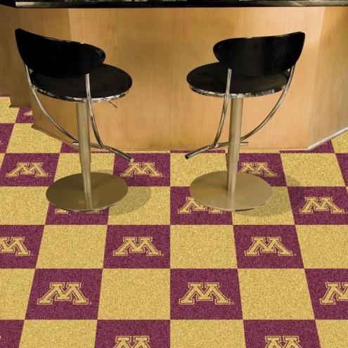 Minnesota Golden Gophers Team Carpet Tiles