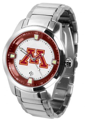 Minnesota Golden Gophers Titan Steel Men's Watch