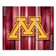 Minnesota Golden Gophers Triptych Rush Canvas Wall Art