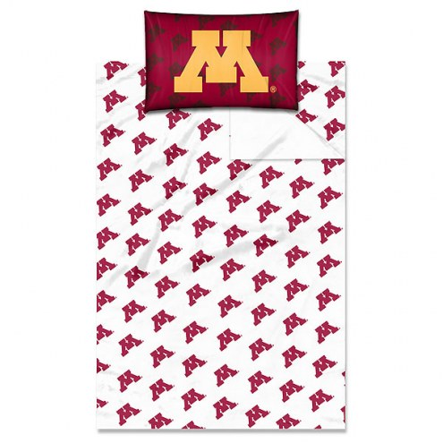 Minnesota Golden Gophers Twin Bed Sheets