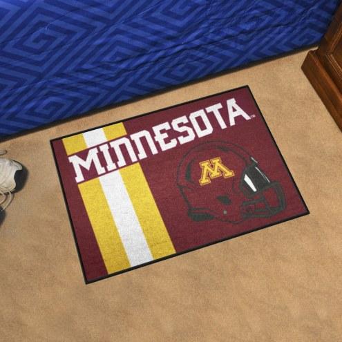 Minnesota Golden Gophers Uniform Inspired Starter Rug