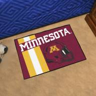 Minnesota Golden Gophers Uniform Inspired Starter Rug