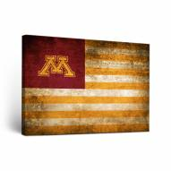 Minnesota Golden Gophers Vintage Flag Canvas Wall Art