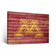 Minnesota Golden Gophers Weathered Canvas Wall Art