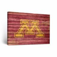 Minnesota Golden Gophers Weathered Canvas Wall Art