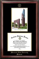 Minnesota State Mavericks Gold Embossed Diploma Frame with Lithograph