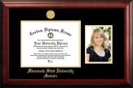 Minnesota State Mavericks Gold Embossed Diploma Frame with Portrait