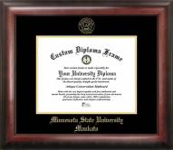 Minnesota State Mavericks Gold Embossed Diploma Frame