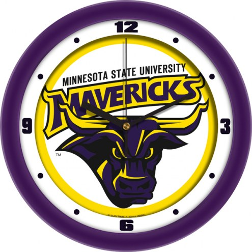 Minnesota State Mavericks Traditional Wall Clock