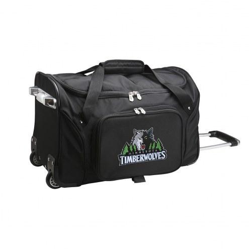 "Minnesota Timberwolves 22"" Rolling Duffle Bag"