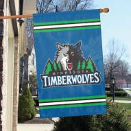 Minnesota Timberwolves Appliqué 2-Sided Banner Flag