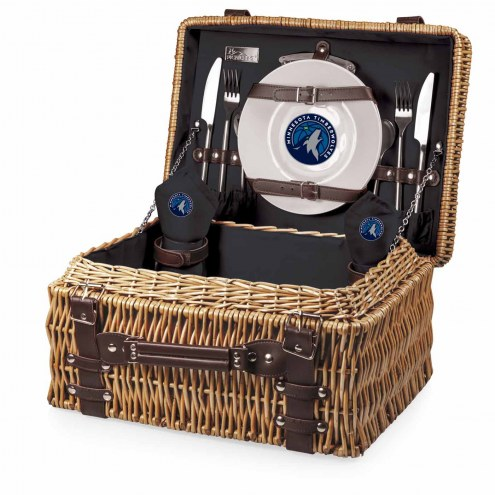 Minnesota Timberwolves Black Champion Picnic Basket