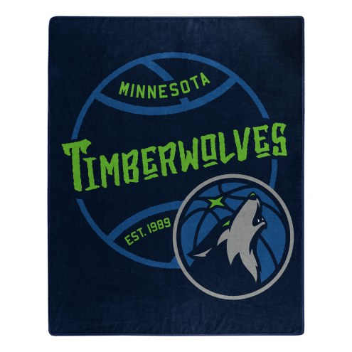 Minnesota Timberwolves Blacktop Raschel Throw Blanket