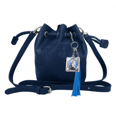 Minnesota Timberwolves Charming Mini Bucket Bag