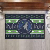 Minnesota Timberwolves Christmas Sweater Starter Rug