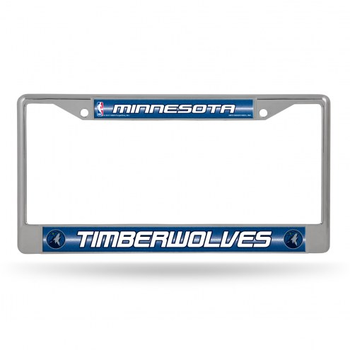 Minnesota Timberwolves Chrome Glitter License Plate Frame