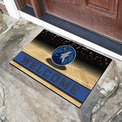 Minnesota Timberwolves Crumb Rubber Door Mat