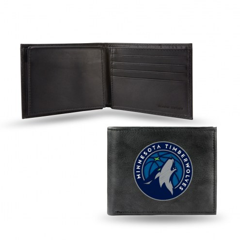 Minnesota Timberwolves Embroidered Leather Billfold Wallet
