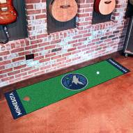 Minnesota Timberwolves Golf Putting Green Mat