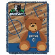 Minnesota Timberwolves Half Court Baby Blanket