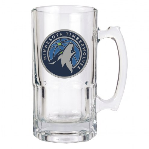 Minnesota Timberwolves NBA 1 Liter Glass Macho Mug