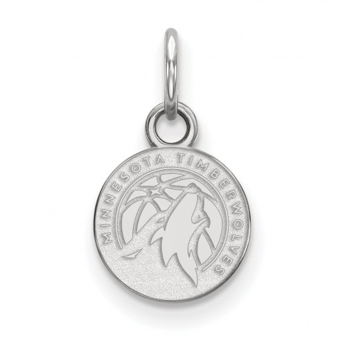 Minnesota Timberwolves Sterling Silver Extra Small Pendant