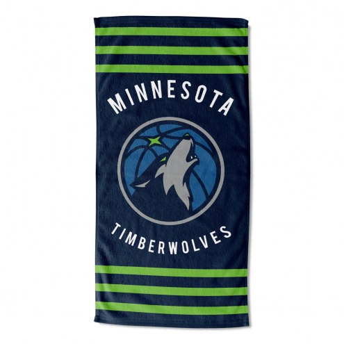 Minnesota Timberwolves Stripes Beach Towel