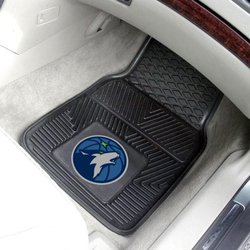 Minnesota Timberwolves Vinyl 2-Piece Car Floor Mats