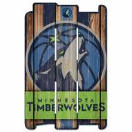 Minnesota Timberwolves Wood Fence Sign