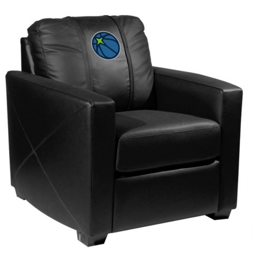 Minnesota Timberwolves XZipit Silver Club Chair with Secondary Logo