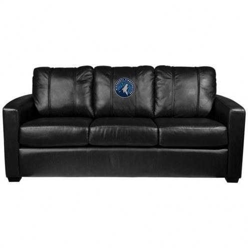 Minnesota Timberwolves XZipit Silver Sofa