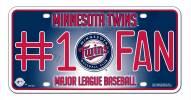 Minnesota Twins #1 Fan License Plate