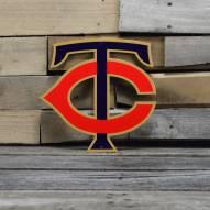 "Minnesota Twins 12"" Steel Logo Sign"