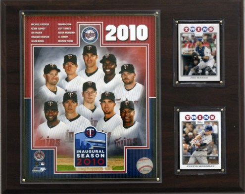 "Minnesota Twins 12"" x 15"" 2010 Team Plaque"