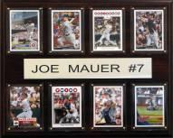 """Minnesota Twins 12"""" x 15"""" Joe Mauer 8 Card Plaque"""