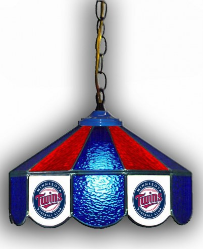 "Minnesota Twins 14"" Glass Pub Lamp"