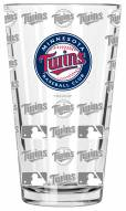 Minnesota Twins 16 oz. Sandblasted Pint Glass