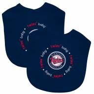 Minnesota Twins 2-Pack Baby Bibs
