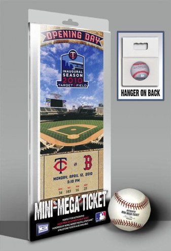 Minnesota Twins 2010 Opening Day Mini Mega Ticket