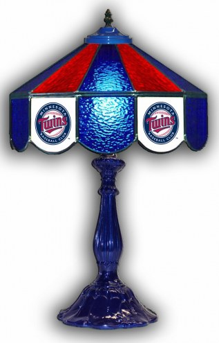 "Minnesota Twins 21"" Glass Table Lamp"