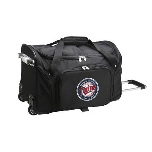 """Minnesota Twins 22"""" Rolling Duffle Bag"""