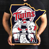 "Minnesota Twins 24"" Steel Logo Sign"