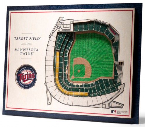 Minnesota Twins 5-Layer StadiumViews 3D Wall Art