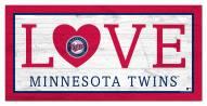 """Minnesota Twins 6"""" x 12"""" Love Sign"""