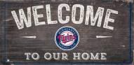 "Minnesota Twins 6"" x 12"" Welcome Sign"