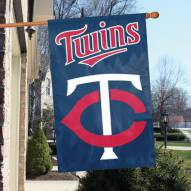 Minnesota Twins Applique 2-Sided Banner Flag
