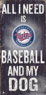 Minnesota Twins Baseball & My Dog Sign