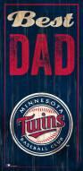 Minnesota Twins Best Dad Sign