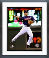 Minnesota Twins Brian Dozier Action Framed Photo