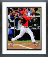 Minnesota Twins Brian Dozier 2014 Home Run Derby Action Framed Photo
